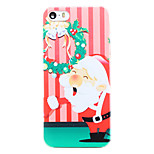 Christmas Style Santa Garland Pattern Transparent PC Back Cover for iPhone 5/5S