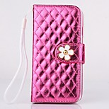 High Quality Diamond Check Pattern PU Leather Cover for iPhone 6 Plus (Assorted Colors)