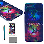 LEXY® Star Universe Pattern Hard PC Back Case with 9H Glass Screen Protector and Stylus for iPhone 6/6S