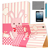 LEXY® Bunny's Dreams Pattern PU Leather Flip Stand Case with Screen Protector and Stylus for iPad Mini 4