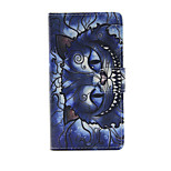 Printed Blue Cat PU Leather Wallet Full Body Case with Stand for Huawei G8