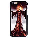 Halloween Style Fire Pumpkin Wizard Pattern Allunium Back Case for iPhone 6