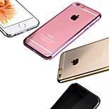 transparente TPU material blando toda caja del teléfono chapado incluyente para el iphone 6 / 6s (colores surtidos)