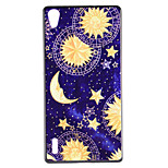Sparke Moon and Star Design PC Material Back Case for Sony Z1