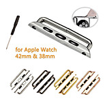 1 Pair Seamless Metal Connector Clasp Watch Band Buckle and Screwdriver for Apple Watch 38mm 42mm (Assorted Colors)