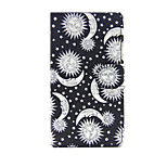 Sun And Moon Design PU Leather Full Body Case with Stand and Card Slot for Sony Xperia M4 Aqua