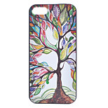 Coloured Drawing Tree Painting Pattern PC Case for iPhone 5/5S
