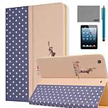 lexy® große Welt-Muster PU-Leder Flip-Standplatzfall mit Displayschutzfolie und Schreibkopf für ipad mini 4