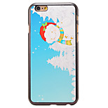 Christmas Style Fat Snowman Pattern PC Hard Back Cover for iPhone 6 Plus