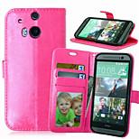Qualitäts-PU-Leder Geldbörse Handy-Köchertasche für HTC m8 / m9 (Farbe sortiert)