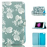 Pineapple Pattern PU Skin Soft Case for iPhone6