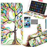 LEXY® Art Color Tree Pattern PU Full Body Leather Case with Screen Protector and Stylus for iPhone 6/6S