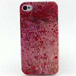 patrón de la pintura en polvo de cereza TPU caso suave para el iphone 4 / 4s