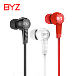 BYZ K61 computer phone headset general heavy bass movement game earplugs drive-by-wire flat wire in-ear headphones