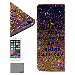 LEXY® Golden Powder Pattern Hard PC Back Case with 9H Glass Screen Protector and Stylus for iPhone 6/6S