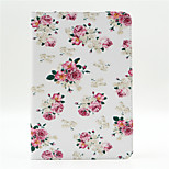 Peony Pattern PU Leather Full Body Case with Stand and Card Slot for iPad Mini 4