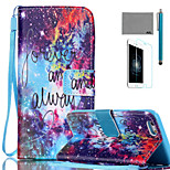 LEXY® Gorgeous Starry Sky Pattern PU Full Body Leather Case with Screen Protector and Stylus for iPhone 6/6S