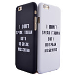 Letter Pattern Smooth Surface PC Hard Back Cover Case for iPhone 5/5S(Assorted Colors)