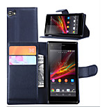 Embossed Card Wallet Cover For Bracket Sony Xperia M Mobile Phone