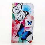 Two Butterflies Painted PU Phone Case for iphone 6/6S