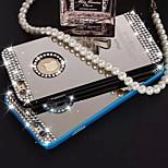 reine Handarbeit Diamant leuchtet Diamantspiegel zurück Fall für iPhone 5 / 5s (verschiedene Farben)