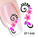 1 PCS 3D Water Transfer Printing Nail Stickers XF1446