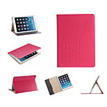 Luxury Grid Leather Case Card wallet Stand Smart Cover protective book cases For ipad Air 2/ipad6(Assorted Color)