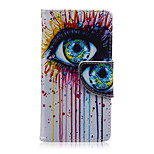Big Eye Coloured Drawing Pattern PU Leather Full Body Cover with Stand for Sony Xperia Z5 Compact