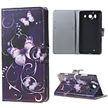 Purple Butterfly  Wallet Leather Stand Case for  Microsoft Nokia Lumia 950 N950