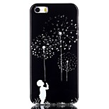Dandelion Pattern TPU Soft Cover for iPhone 6/6S