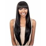 Natural Color # 1B  Women Lady  Syntheic Wig Extensions  Top Quality