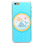 Sugar Whale Pattern Transparent PC Back Cover for iPhone 6