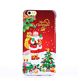 Christmas Eve Pattern Glossy Surface PC Hard Phone Case for iPhone 6S/6