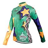 ilpaladinoSport Women Long sleeve Cycling Jersey New Style    CX601 Star Travel  100% Polyester