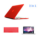 3 in 1 Full Body Hard Cases with Keyboard Cover and HD Screen Protector for Macbook Pro 13.3