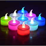 Colorful Gradient Electronic Candle Candle Simulation