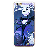 Demon Doll Pattern Transparent PC Back Cover for iPhone 6