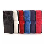 Luxury CROCO Pattern High-quality PU Leather Full Body Case with Kickstand and Card Slots for Iphone 6