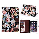 Flower Buppee Pattern PU Leather Tablet Full Body Cases Protective Shell with Stand for iPad Mini 2/3