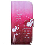 Dandelion Letter Pattern PU Leather Phone Case For iPhone 5C