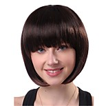 Capless Mix Color  High Quality Natural Straight Hair Synthetic Wig