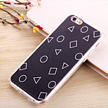 Lattice Litchi Grain TPU Transparent Side Back Cover for iPhone6/iPhone 6s(Assorted Colors)