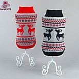 FUN OF PETS® Christmas Reindeer Pattern Winter Dogs Sweater for Dogs Clothing  (Assorted Sizes and Colours)