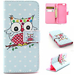 Cartoon Owl Pattern PU Leather phone Case For iPhone 6S/6