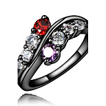 Guaranteed 100% women durable daily band ring with colorful stone