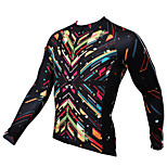 PaladinSport Men's Long Sleeve Cycling Jersey New Style CX389 Spark 100% Polyester