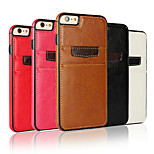 New Fashion Pocket PU Leather Style Card Slot Case Back Skin Cover for iphone 6/6S