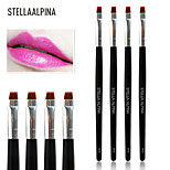 Stellaalpina Lip Brush Nylon Professional Wood Lip
