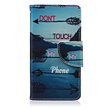 Landscape Painting Don't Touch My Phone Pattern PU Leather Full Body Cover with Stand for Sony Xperia Z5 Compact