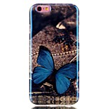 Butterfly Blue laser TPU Pattern Back Cover Mobile Phone Protection Shell for iPhone 6/6S